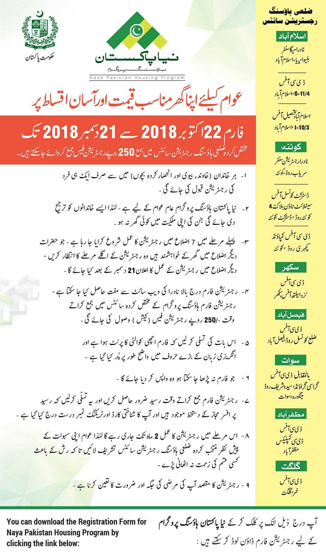 Naya Pakistan Housing 2018